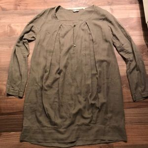 Pomandere long blouse size 42 long sleeve brown